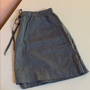 Merona Chambray Polka Dot Mini Skirt